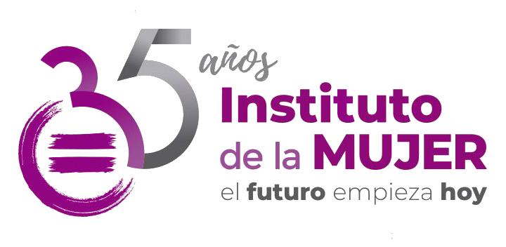 Logo 35 años del instituto de la mujer